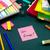 mensagem · trabalhando · secretária · energia · escritório · escolas - foto stock © user_9323633