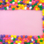jelly beans frame and background pink background stock photo © user_9323633