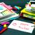Learning New Language Making Original Flash Cards; Arabic stock photo © user_9323633