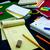 学習 · 新しい · 言語 · 書く · 単語 · 多くの - ストックフォト © user_9323633