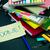 salissant · bureau · espace · de · copie · papier · crayon · signe - photo stock © user_9323633