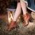 piernas · linterna · heno · denim · falda · edad - foto stock © user_9834712