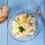 ensalada · de · papa · vidrio · tazón · bordo · papa - foto stock © user_9870494