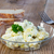 potato salad in a glass bowl on wooden board stock photo © user_9870494