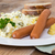potato salad with sausage and mustard stock photo © user_9870494
