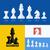 modernes · échecs · icônes · pièces · d'échecs · roi - photo stock © ussr