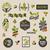 badges · groene · bladeren · ingesteld · vector · ontwerp - stockfoto © ussr