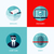 Modern flat vector concepts of security and  surveillance. Icons set for websites, mobile apps and p stock photo © ussr