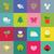 vector · establecer · colorido · tulipán · iconos · resumen - foto stock © ussr