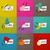 dia · cartões · conjunto · nove · saudação · textura - foto stock © ussr
