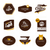 collectie · retro · koffie · frames · badges - stockfoto © ussr
