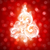 Swirly Christmas tree on red bokeh background. Vector illustration. stock photo © ussr