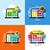 modern flat vector concepts of web design business social media seo design elements set for webs stock photo © ussr