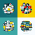 flat vector icons set of cloud storage social media seo and responsive web design stock photo © ussr
