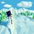 Cute snowman in snowy landscape stock photo © Ustofre9