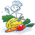 stick figure as a cook with vegetables stock photo © ustofre9