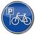 verkeersbord · fietsen · weg · Blauw · verkeer - stockfoto © ustofre9