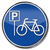 fiets · parkeren · stad · abstract · zomer · teken - stockfoto © ustofre9
