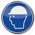 obrigatório · assinar · cabeça · proteção · construção · azul - foto stock © Ustofre9