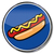Sign hot dog with sausage and mustard  stock photo © Ustofre9