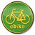 bicicleta · assinar · grama · estrada · trabalhar · seta - foto stock © ustofre9