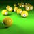 biljart · bollen · vijftien · groene · doek · sport - stockfoto © ustofre9