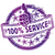 rubber stamp 100 service stock photo © ustofre9