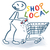 stick figure with shopping cart buy in your city and shop local stock photo © ustofre9