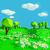 луговой · небольшой · цветы · счастливым · пейзаж · деревья - Сток-фото © Ustofre9
