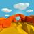Small landscape with stone bridge in the desert stock photo © Ustofre9
