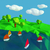 Low poly with many small sailboats on the lake  stock photo © Ustofre9