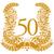 ötvenedik · évforduló · arany · babér · koszorú · díjak - stock fotó © ustofre9