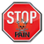 stop sign with pain lightning and skull stock photo © ustofre9