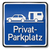 blue private parking sign for caravans stock photo © ustofre9
