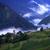 bella · vecchia · casa · nuvoloso · cielo · giallo · blu - foto d'archivio © vadimmmus