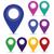 piros · pont · térkép · tő · absztrakt · utazás - stock fotó © valeo5