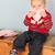 denim · paire · tout-petits · pieds · bébé - photo stock © vanessavr