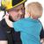 jongen · brandweerman · school · permanente · cute · kaukasisch - stockfoto © vanessavr