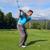 giovani · golfista · shot · ferro · golf · blu - foto d'archivio © vanessavr