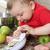 cocina · bebé · nino · jugando · confuso · contra - foto stock © vanessavr