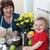 famille · heureuse · fleurs · bébé · garçon · maison · famille - photo stock © vanessavr