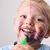 vicces · rendetlenség · nevet · kisgyerek · játszik · színes - stock fotó © vanessavr