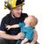 bombero · papá · hijo · modelo · nino - foto stock © vanessavr