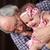 grootvader · kleindochter · knuffelen · bruin · familie · glimlach - stockfoto © vanessavr