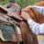 silla · de · montar · jóvenes · masculina · vaquero · caballo · hombre - foto stock © vanessavr