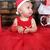 karácsony · baba · kislány · visel · mikulás · kalap - stock fotó © vanessavr