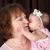 grootmoeder · kleindochter · baby · kus · wang · familie - stockfoto © vanessavr