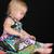 女の子 · 演奏 · 文字列 · ビーズ · 表 · 少女 - ストックフォト © vanessavr