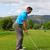 golfista · jóvenes · masculina · listo · hombre · golf - foto stock © vanessavr