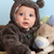 ayı · takım · elbise · bebek · dört · ay · eski - stok fotoğraf © vanessavr